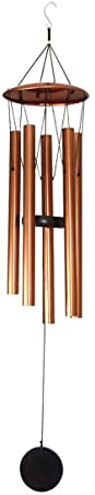 5. MB HANA Wind Chime (Medium, Antique Copper) – Unique Outdoor or Indoor Metal Windchime - Soothing Sounds