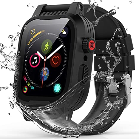 2. ShellBox YOGRE IP68 Waterproof Watch Case for 42MM, Full Sealed Waterproof iWatch Case with Anti-Scratch Screen Protector
