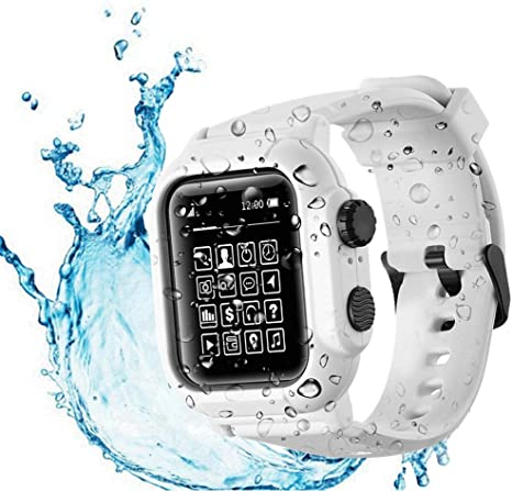4. Waterproof Apple Watch Case 40mm Series 6 / SE / 5 / 4 with Premium Bands, Built-in Screen Protector