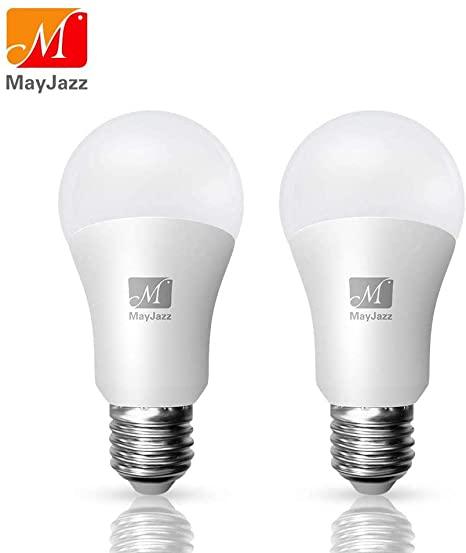 8. MayJazz Led Lights 2 Pack A21 3-Way Daylight 5000k Lamp,6/14/20W (50/100/150W Equivalent) 500/1600/2100Lm E26 Base Led Bulb