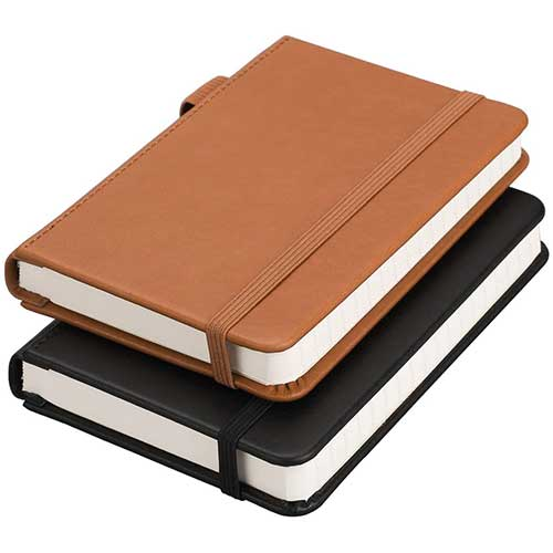 9. RETTACY Pocket Notebooks,2-Pack Small Notebook Hardcover Mini Journal with 312 Pages,100gsm Thick Lined Paper