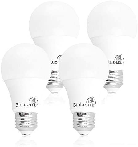 3. Bioluz LED 40/60/100W Replacement 3-Way A19 LED Light Bulb 3000K Soft White Color (4-Pack)
