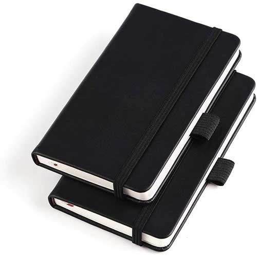 1. (2 Pack) Pocket Notebook Small Hardcover Note Book 3
