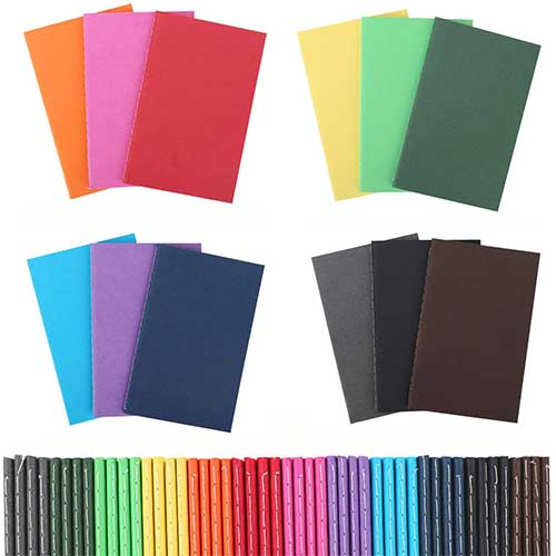 10. 48 Pack Pocket Notebook Set, Colorful Notebooks Bulk Travel Journals Lined Notepad, Soft Cover Mini Memo Notepad