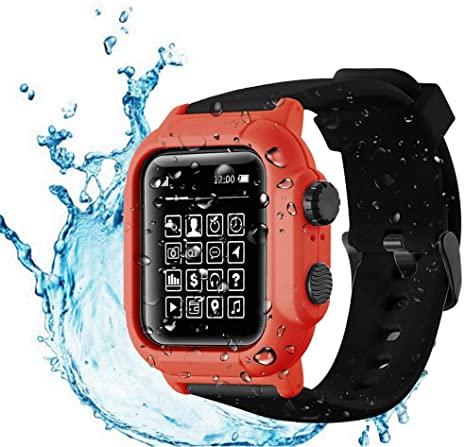 9. Compatible Apple Watch Series 3 & Series 2 42mm Waterproof Case, Tomcrazy IP68 Full Sealed Shockproof Watch Case