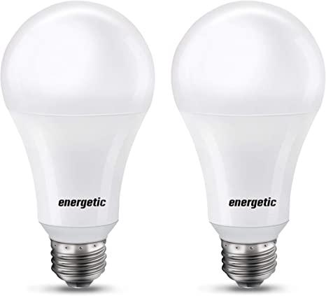 5. Super Bright 50/100/150W 3-Way A21 LED Light Bulb, 800/1600/2200 Lumens, 2700K Soft White, Non-dimmable, E26 Base
