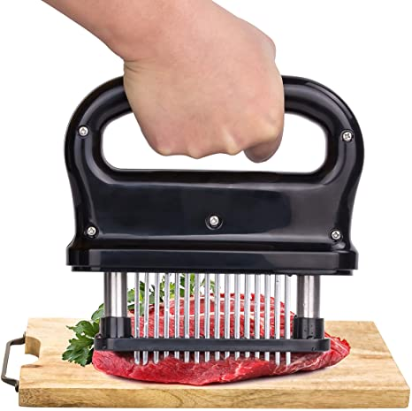 10. Meat Tenderizer, Kmeivol Meat Tenderizer Tool with 48 Stainless Steel Needle Blades, No More Meat Mallet or Hammers