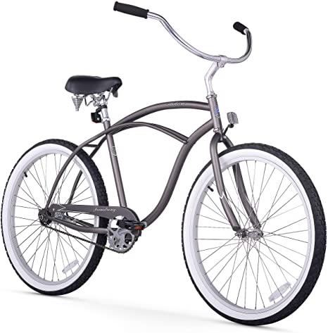 9. Firmstrong Urban Man Beach Cruiser Bike, Matte Grey