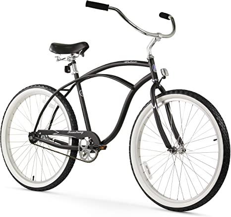 5. Firmstrong Urban Man Beach Cruiser Bike, Matte Black