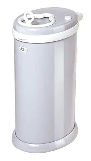 2. Ubbi Steel Odor Locking, No Special Bag Required Money Saving, Awards-Winning, Modern Design Registry Must-Have Diaper Pail