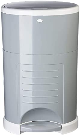 5. Dekor Plus Hands-Free Diaper Pail | Gray | Easiest to Use | Just Step – Drop – Done |