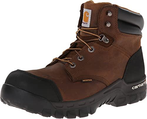 4. Carhartt Men's CMF6380 Rugged Flex Six Inch Waterproof Work Boot