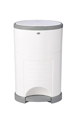 1. Dekor Classic Hands-Free Diaper Pail | White | Easiest to Use | Just Step – Drop – Done