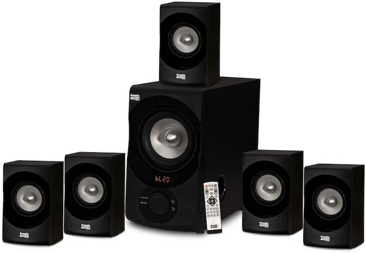 1.Acoustic Audio AA5171 5.1 Surround Sound Bluetooth Home Entertainment System