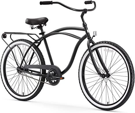 2. sixthreezero Around The Block Men's Single-Speed Beach Cruiser Bicycle