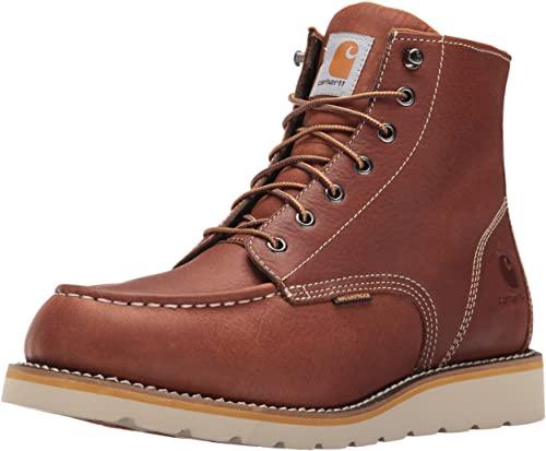 2. Carhartt Men's 6-Inch Waterproof Wedge Soft Toe Work Boot