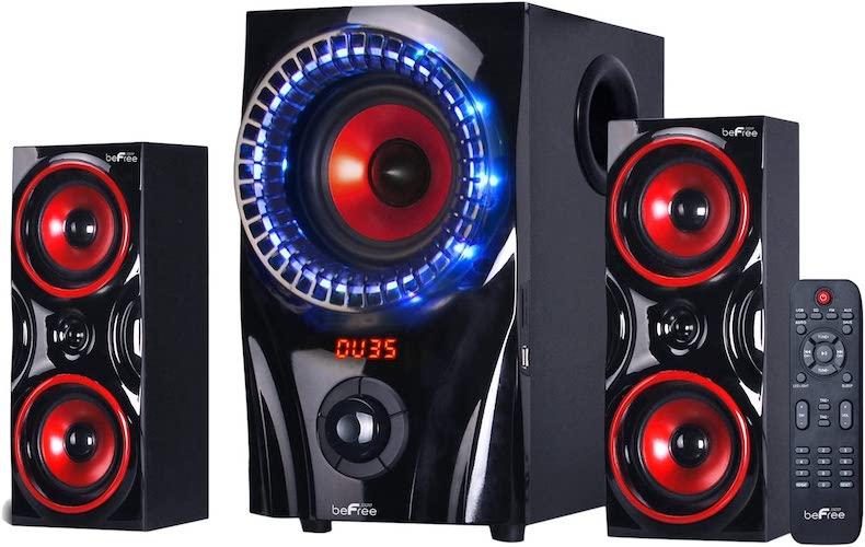 9.beFree Sound BFS-99X 2.1 Channel Surround Sound Bluetooth Speaker System