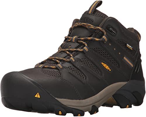 1. KEEN Utility Men's Lansing Mid Steel Toe Waterproof Work Boot