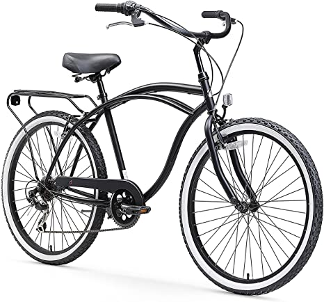 1. sixthreezero Around The Block Men's 7-Speed Beach Cruiser Bicycle