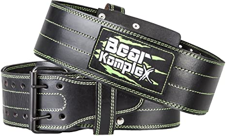 6. Bear KompleX Genuine Leather Adjustable Weightlifting Belt, Protection and Support for Back and Core