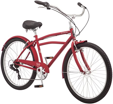 2. Schwinn Mikko & Huron Adult Beach Cruiser Bike, Featuring Steel Step-Over