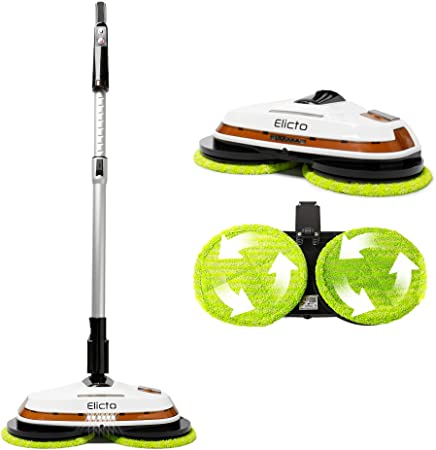 9. Elicto [2020 Update] Electronic Dual Spin Mop and Polisher