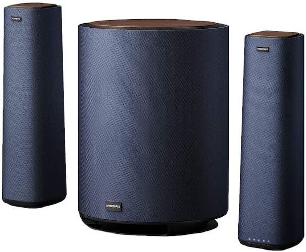 10.MAMBASANKE 5.1 Surround Sound System with Wired Split Speaker