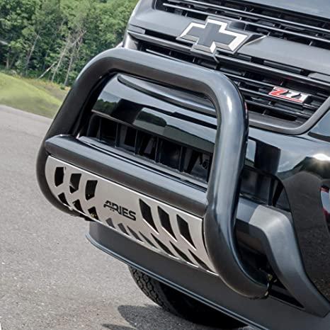 8. ARIES B35-2000 3-Inch Black Steel Bull Bar, No-Drill, Select Toyota Tacoma