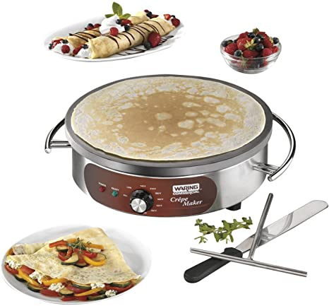 1. Waring Commercial WSC160X Heavy-Duty Electric Crepe Maker, 16