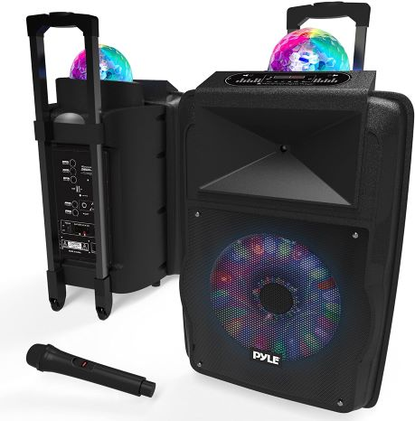 2. Wireless Portable PA Speaker System - 700 W Battery Powered Rechargeable Sound Speaker and Microphone Set