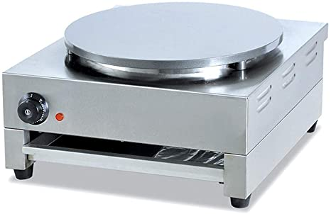 2. Wotefusi Electric Crepe Maker Nonstick Blintze Maker Commercial Machine Stainless Steel Pancake Maker 15 inches 110V