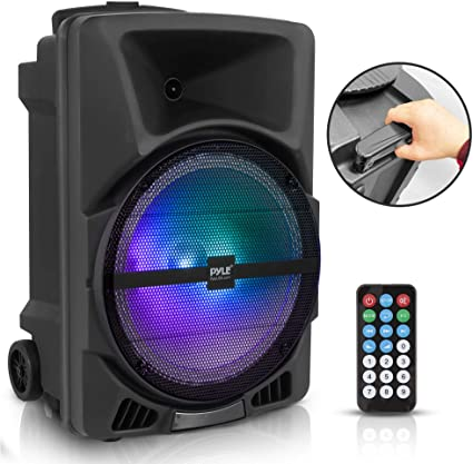 1. Pyle Wireless Portable PA Speaker System - 800W High Powered Bluetooth Compatible Indoor & Outdoor DJ Sound Stereo Loudspeaker