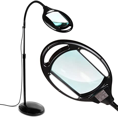 1. BrightechLightView Pro - Full Page Magnifying Floor Lamp - Hands Free Magnifier with Bright LED Light for Reading