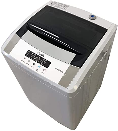2. Panda PAN6360W Compact Portable Washing Machine, 12lbs Capacity, 8 Wash Programs, 1.54 cu. ft Top Load Cloth Washer