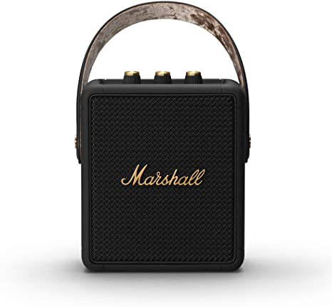 9. Marshall Stockwell II Portable Bluetooth Speaker - Black and Brass - Amazon Exclusive