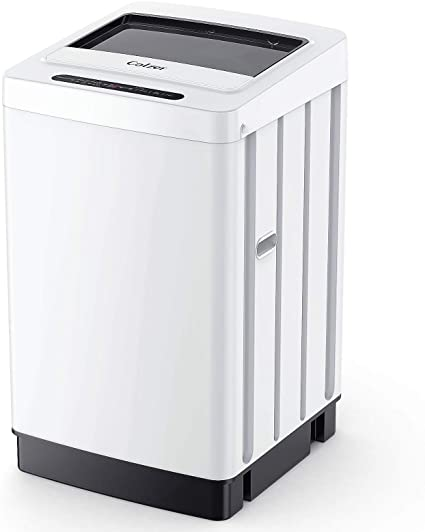 6. Colzer Full-Automatic Portable Washing Machine Compact Laundry Washer 11Lbs Capacity, 8 Wash Programs 6 Water Level Top Load LED Display
