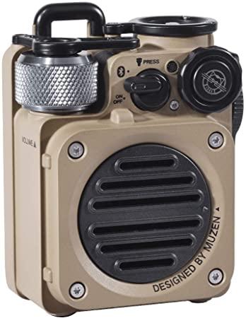 6. Muzen Wild Mini Rugged Outdoor Speaker, Bluetooth Radio Portable Speaker with Louder Volume, Crystal Clear Sound, Wireless Waterproof Speakers