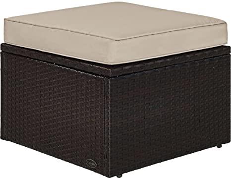 5. Crosley Furniture KO70091BR-SA Palm Harbor Outdoor Wicker Ottoman