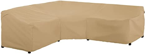 8. Classic Accessories Terrazzo Water-Resistant 100 Inch Patio V-Shaped Sectional Lounge Set Cover