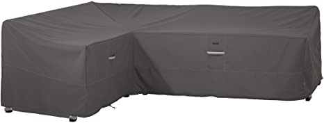 4. Classic Accessories Ravenna Water-Resistant 104 Inch Patio Left Facing Sectional Lounge Set Cover