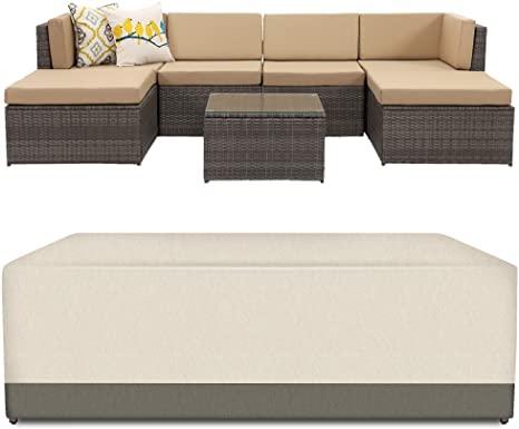 6. Wisteria Lane Veranda Patio Furniture Waterproof Durable Cover, Suit for 7 Piece Outdoor Sectional Sofa