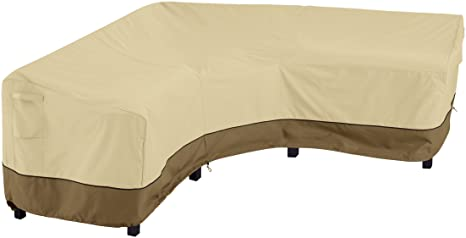 1. Classic Accessories Veranda V-Shaped Outdoor Sectional Cover, Heavy Duty Patio Furniture Sofa Lounge Set Cover