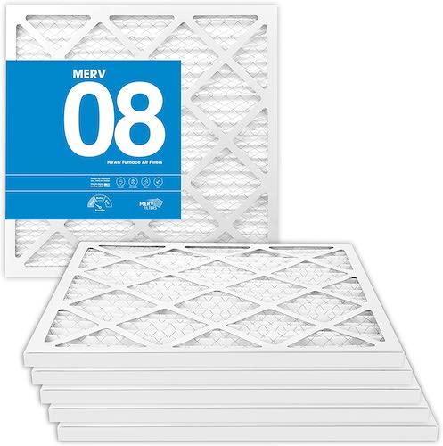 6.MervFilters 14x18x1 Air Filter, MERV 8, MPR 600, AC Furnace Air Filter, 6 Pack