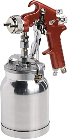 3. Astro Pneumatic Tool 4008 Spray Gun with Cup - Red Handle 1.8mm Nozzle