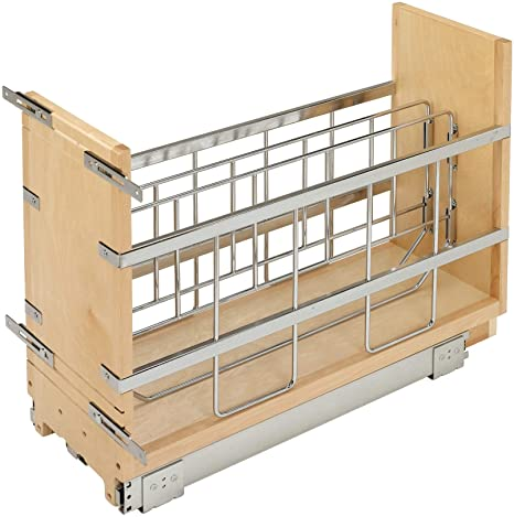 10. Rev-A-Shelf 447-BCBBSC-8C 447 Series 8-Inch Wide Pull Out Foil, Wrap, Sheet, and Tray Divider Cabinet Organizer for Kitchen Base Cabinets