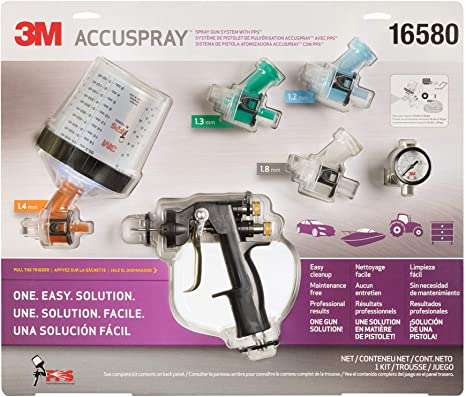 2. 3M 16580Accuspray Paint Spray Gun System with Original PPS, Standard, 22 Ounces, 4 Nozzles