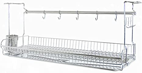 2. INEX Stainless Kitchen Cabinets Mount Dish Drying Shelf Kitchen Organizer