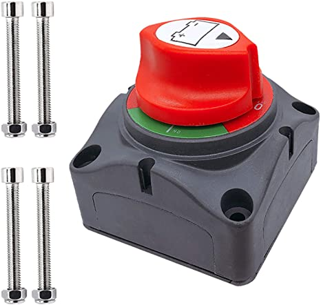 1. Ampper Battery Switch, 12-48 V Battery Power Cut Master Switch Disconnect Isolator