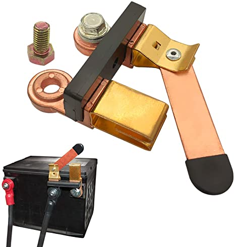 8. Ampper Side Post Knife Blade Master Switch, 12V / 24V Battery Disconnect Switch Isolator for Marine Car Boat RV ATV Vehicles
