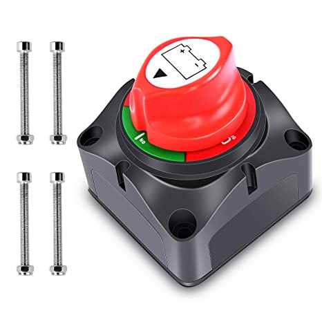 2. Nilight - 90015A Battery Switch 12-48V Waterproof Heavy Duty Battery Power Cut Master Switch Disconnect Isolator